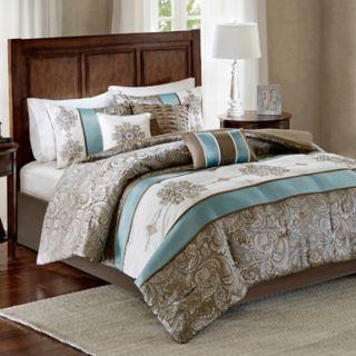Madison Park 7-piece Lorraine Jacquard Comforter Set