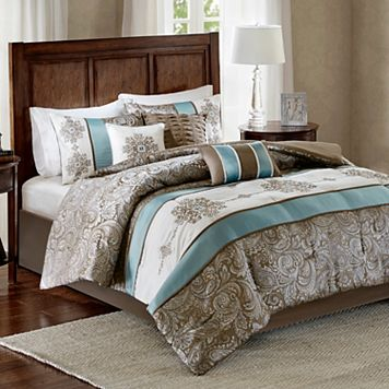Madison Park 7-piece Lorraine Jacquard Comforter Set