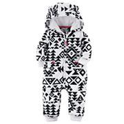 Baby Girl Carter's Tribal Fleece Hooded Jumpsuit