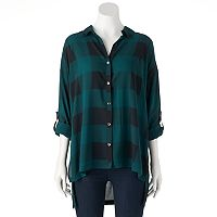 Women's Rock & Republic® Plaid High-Low Shirt