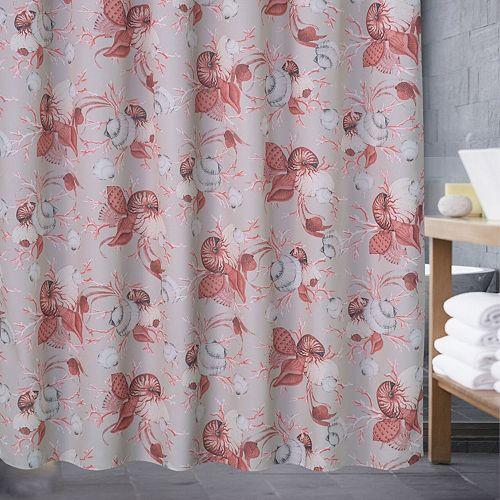 Popular Bath Color Shell Shower Curtain