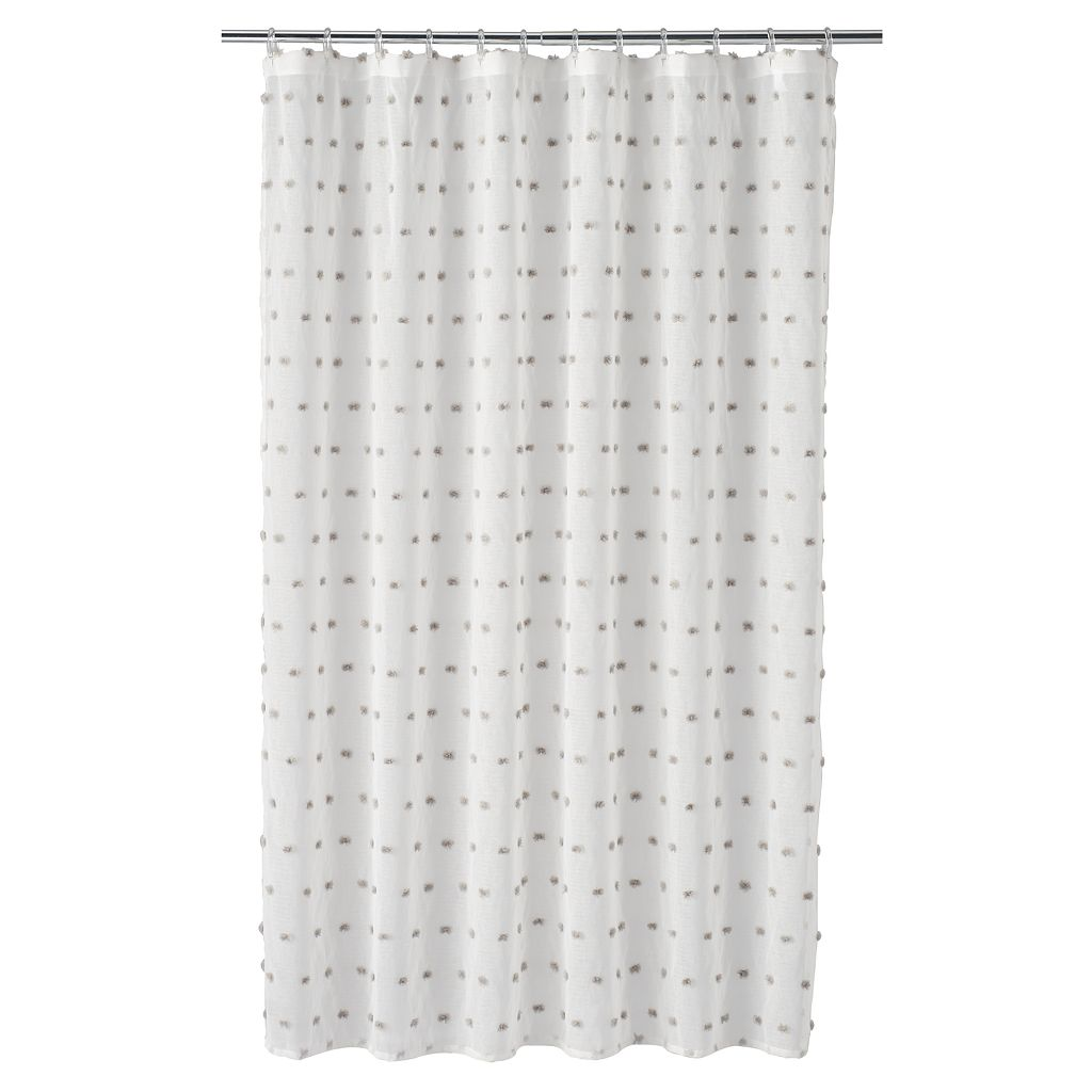 LC Lauren Conrad Pom Pom Shower Curtain