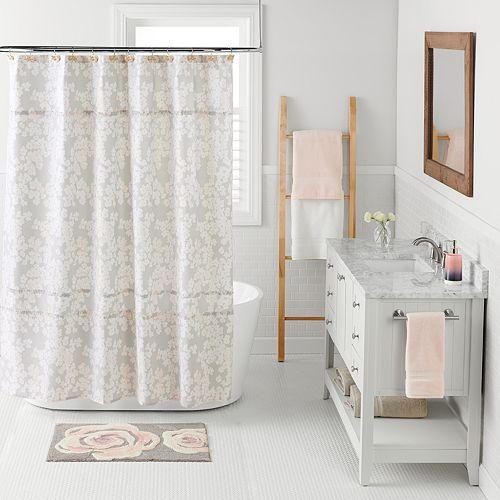 LC Lauren Conrad Pale Blossom Shower Curtain