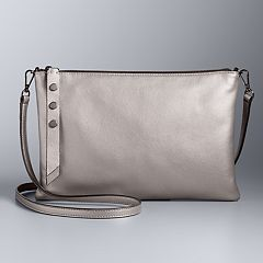 Simply Vera Vera Wang Crosby Leather Crossbody Bag