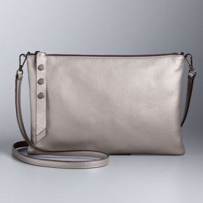 Simply Vera Vera Wang Crosby Leather Crossbody Bag