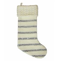 St. Nicholas Square® Striped Sequin Christmas Stocking