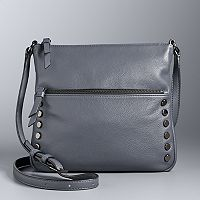 Simply Vera Vera Wang Baxter Studded Leather Crossbody Bag