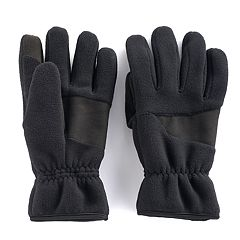 Men's Apt. 9® Mixed Media Fleece Touchscreen Gloves