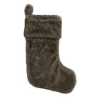 St. Nicholas Square® Brown Faux-Fur Christmas Stocking