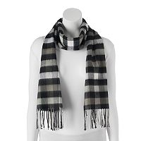 Softer Than Cashmere Buffalo Check Fringed Oblong Scarf