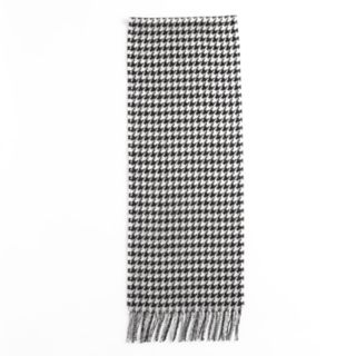 Softer Than Cashmere Houndstooth Fringed Oblong Scarf