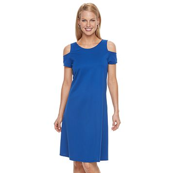 Women's Dana Buchman Cold-Shoulder Dress