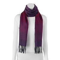 Softer Than Cashmere Ombre Zigzag Fringed Oblong Scarf