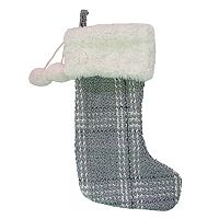 St. Nicholas Square® Boucle Plaid Christmas Stocking