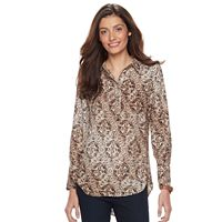 Women's Dana Buchman Button-Down Crepe Blouse