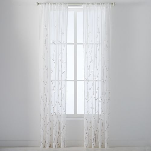 Laura Ashley Lifestyles 2-pack Vindedellion Window Curtains