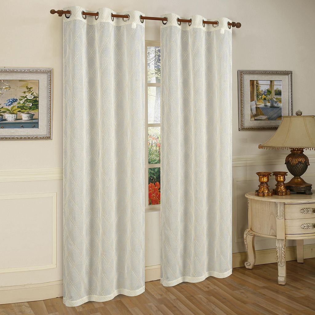 Beatrice Home Fashions 2-pack Conrad Window Curtains