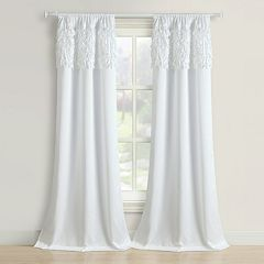Beatrice Home Fashions 2-pack Walden Leaves Window Curtains