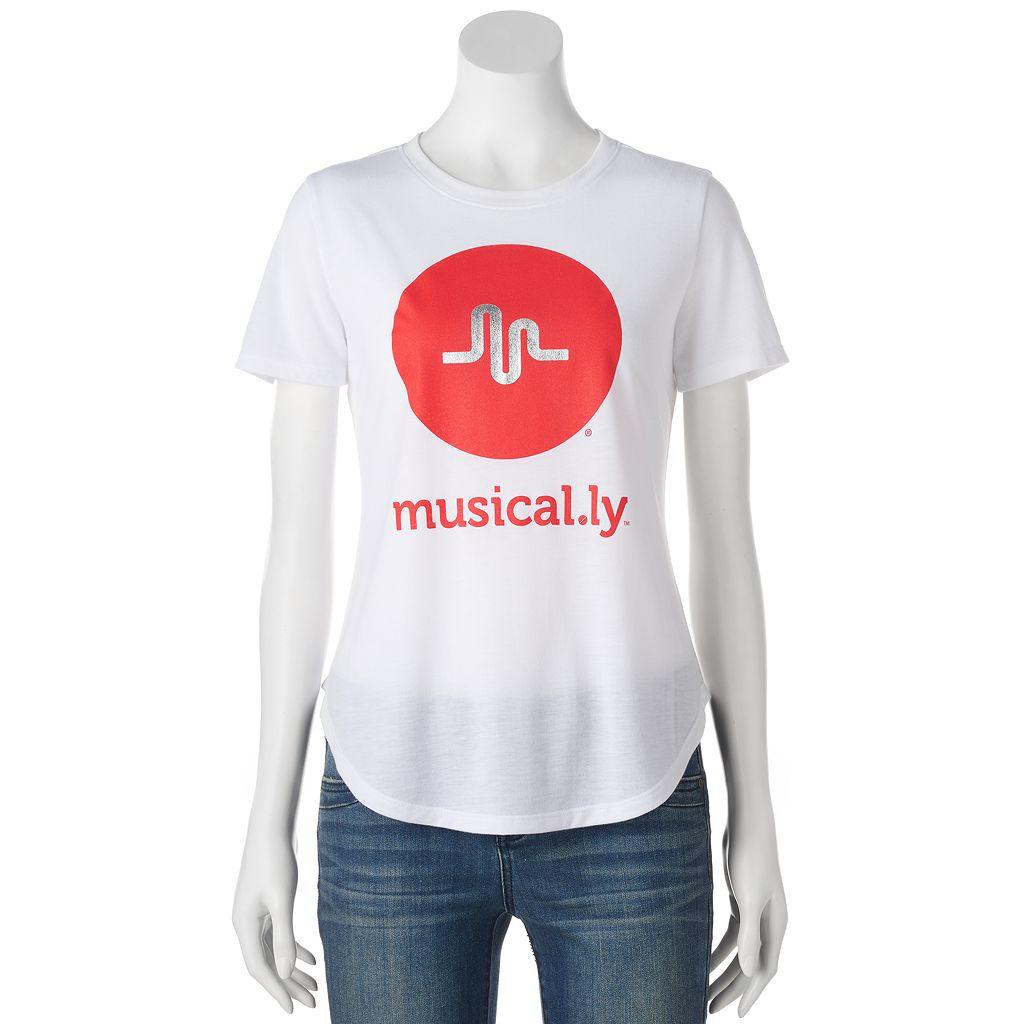 Juniors' musical.ly Logo Graphic Tee