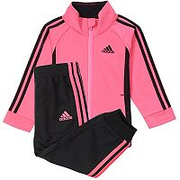 Girls 4-6x adidas Pink Tricot Jacket & Pants Set