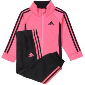 Girls 4-6x adidas Pink Tricot Jacket & Pants Set