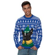 Men's Elf Pug Ugly Christmas Sweater
