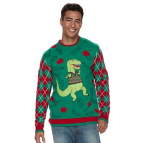 Men's T. rex Ugly Christmas Sweater