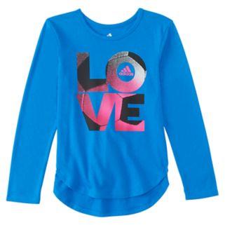 "Girls 4-6x adidas ""Love"" Soccer High-Low Tee"