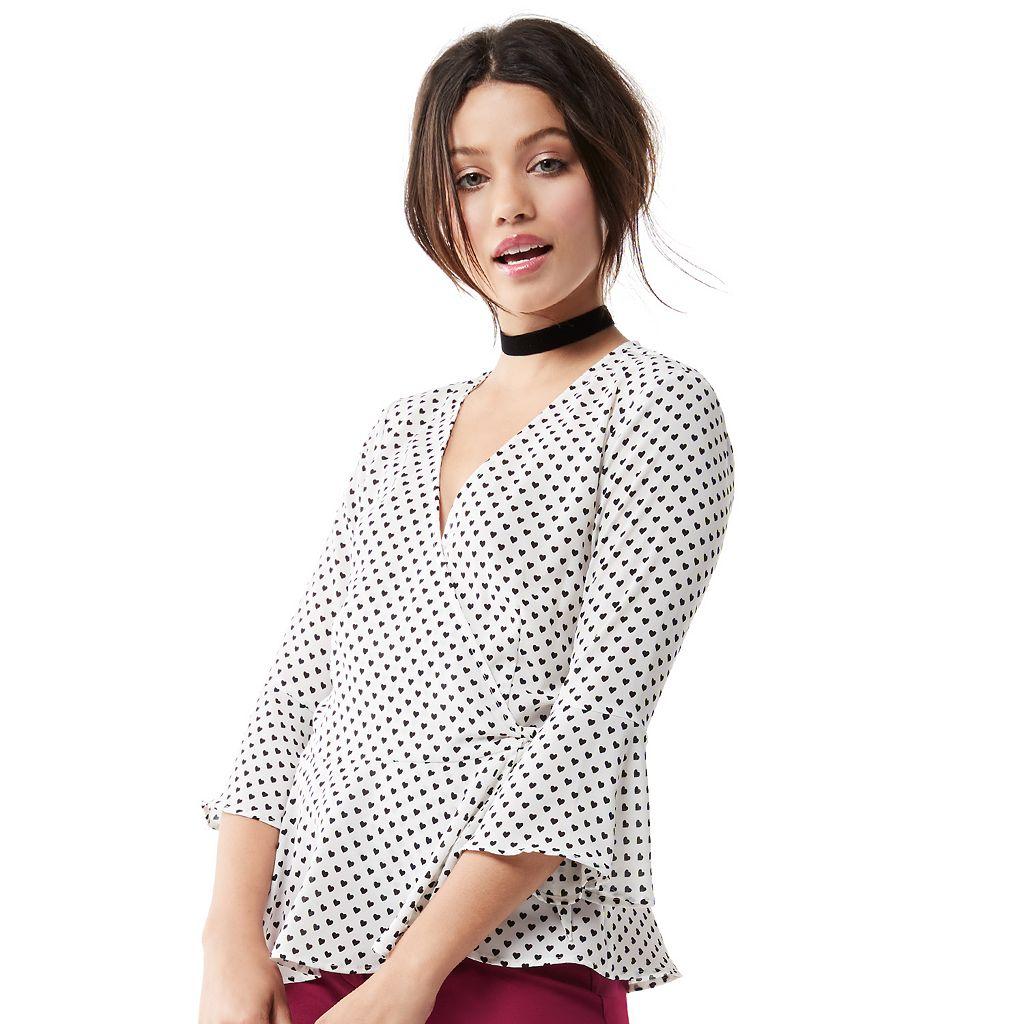 Juniors' Candie's® Bell Sleeve Wrap Top