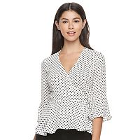 Juniors' Candie's® Bell Sleeve Wrap Top