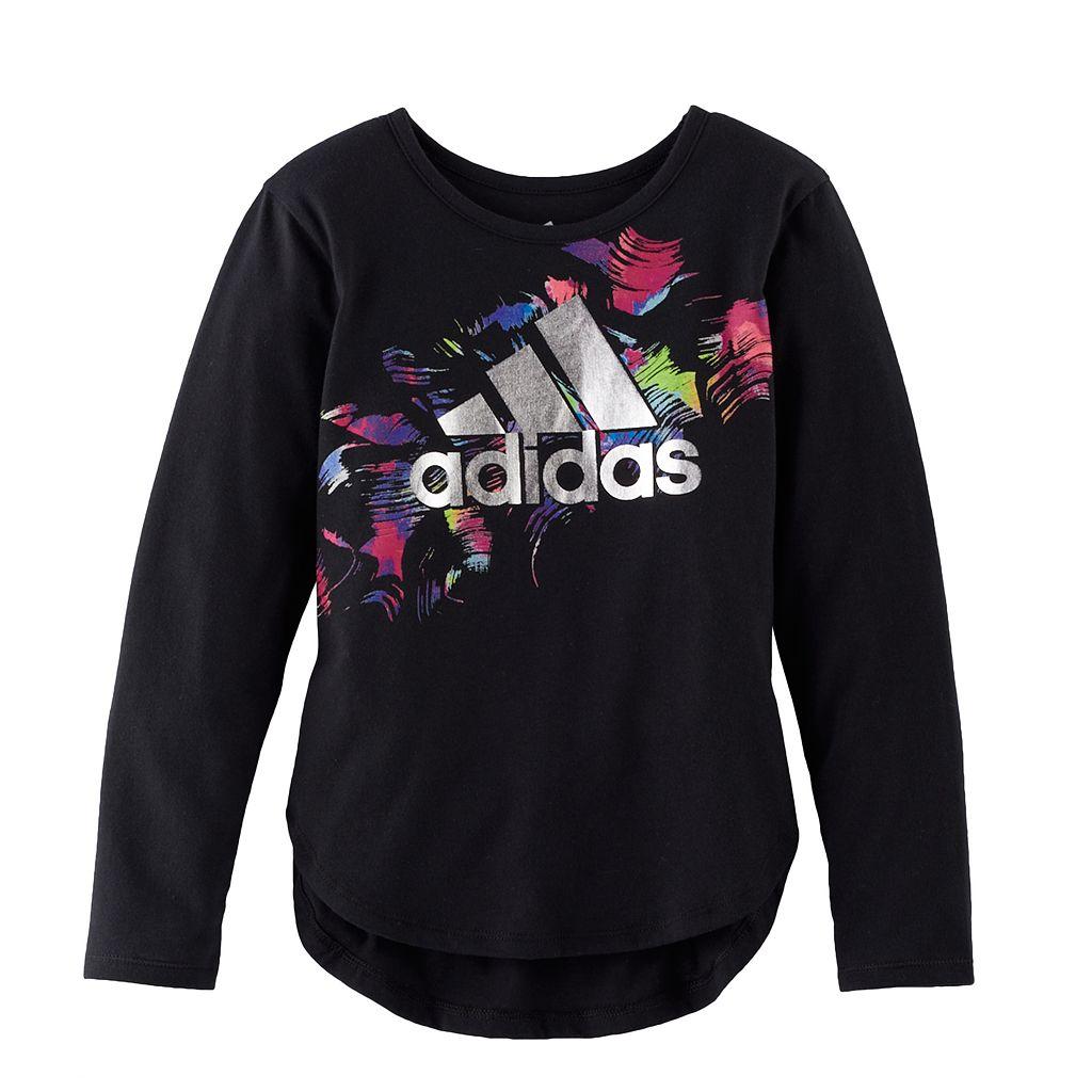 Girls 4-6x adidas Logo Long-Sleeved Tee