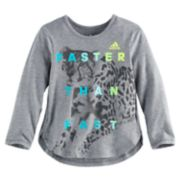 "Girls 4-6x adidas ""Faster Than Fast"" Long-Sleeved Tee"