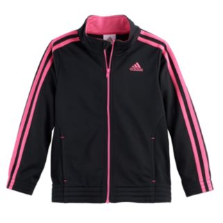 Toddler Girl adidas Warm-Up Tricot Lightweight Jacket