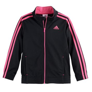 Toddler Girl adidas Warm-Up Tricot Lightweight Jacket