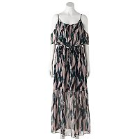Women's Jennifer Lopez Cold-Shoulder Maxi Dress