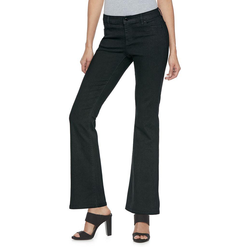 Women's Jennifer Lopez Bootcut Black Jeans
