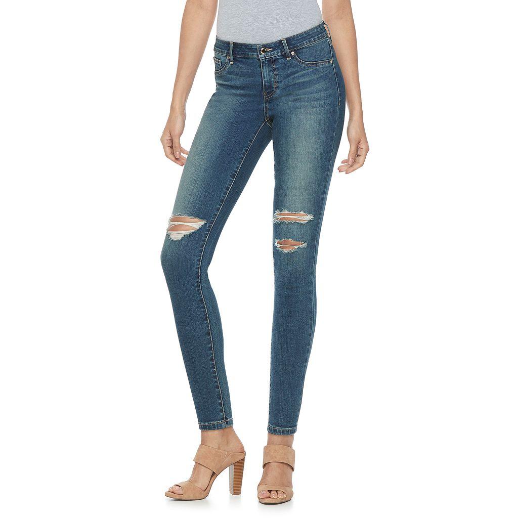 Women's Jennifer Lopez Ripped Super Stretch Skinny Jeans