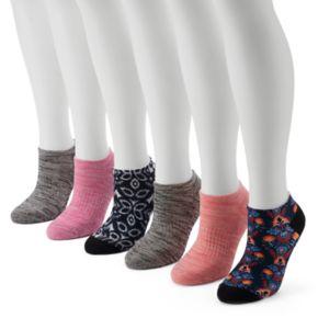 Women's 6-pk. Unionbay Floral & Marled Athletic Compression Low-Cut Socks