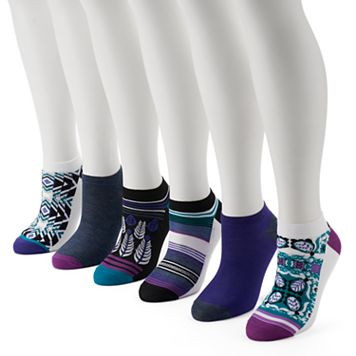 Women's 6-pk. Unionbay Geometric Flat Knit Low-Cut Socks