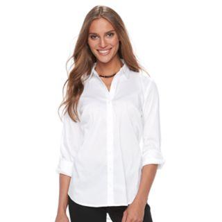 Women's Apt. 9® Structured Essential Button-Down Shirt