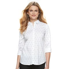 Women's Apt. 9® Structured Essential Button-Down Shirt