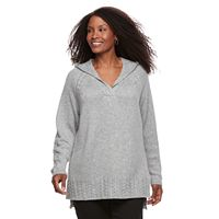 Plus Size SONOMA Goods for Life™ Cable Knit Hooded Tunic
