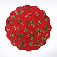 St. Nicholas Square® Quilted Holly Placemat
