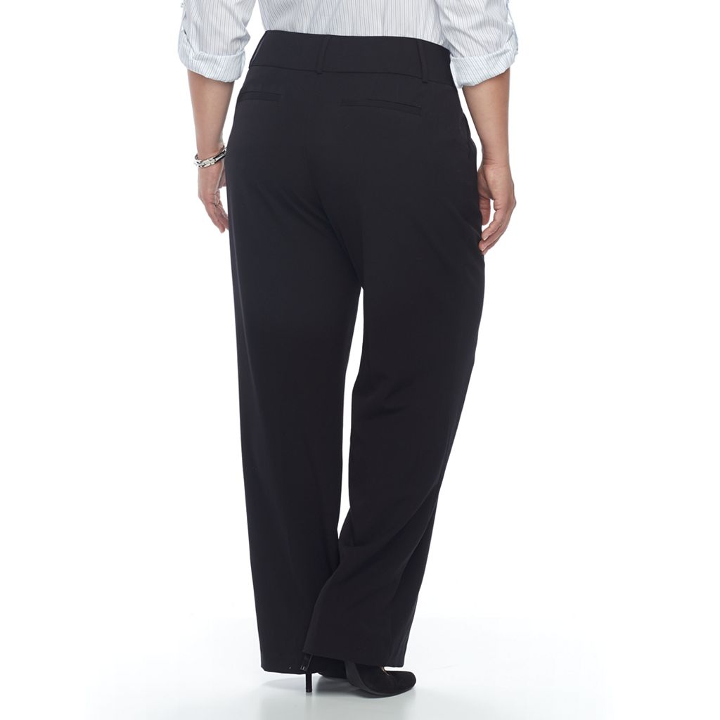 Plus Size Apt. 9® Straight-Leg Dress Pants