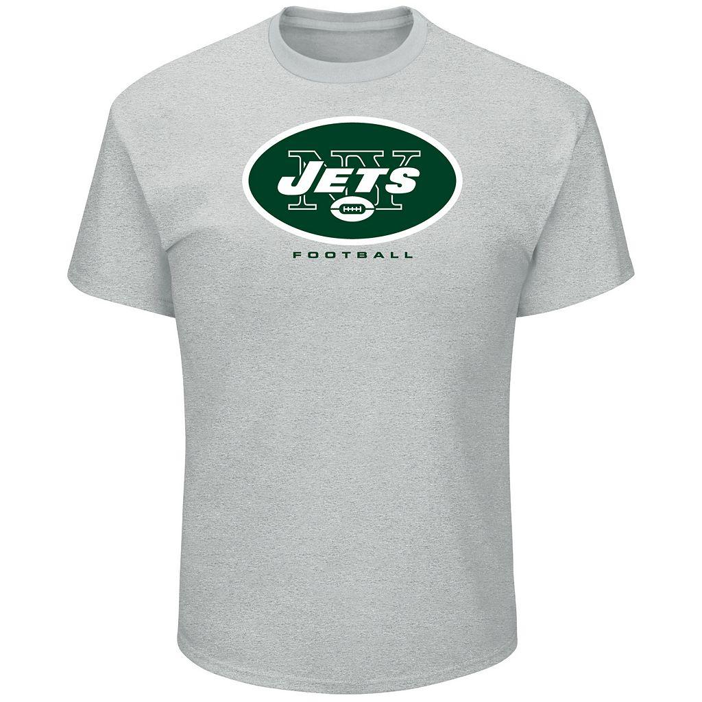 Big & Tall Majestic New York Jets Logo Tee