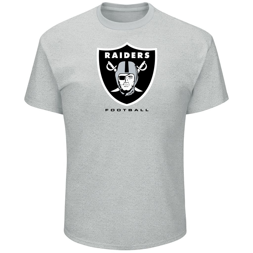 Big & Tall Majestic Oakland Raiders Logo Tee
