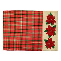 St. Nicholas Square® Plaid Poinsettia Placemat