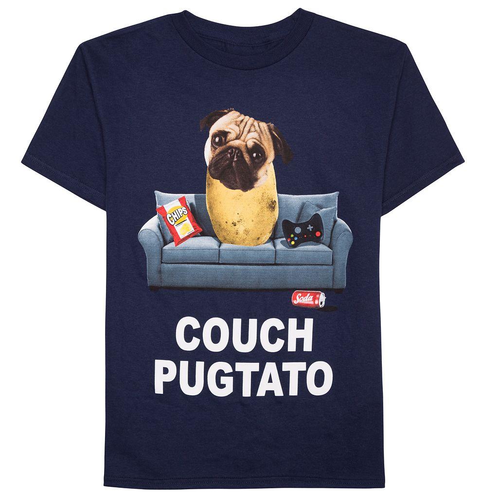 Boys 8-20 Couch Pug-Tato Tee