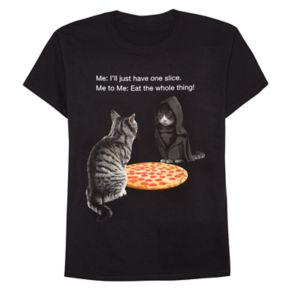 """Boys 8-20 """"Just One Slice of Pizza"""" Tee"""