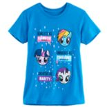 Girls 7-16 My Little Pony Rainbow Dash, Twilight Sparkle & Rarity Heads Tee
